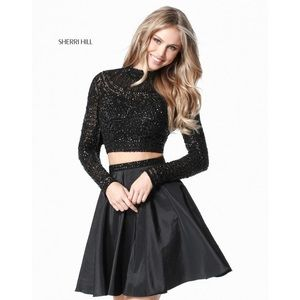 Sherri Hill 51301 Jeweled Long Sleeve Two-Piece